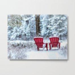 Winter Arrives on Anderson Pond Metal Print