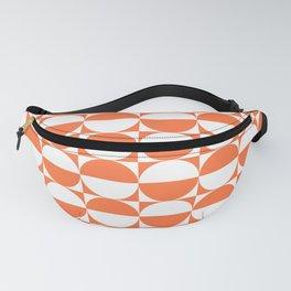 Mid Century Modern Half Circles Pattern Orange Fanny Pack