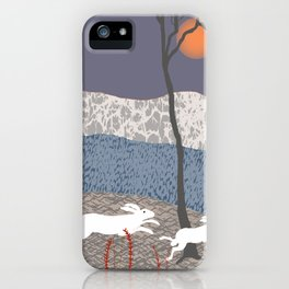 Running Hares iPhone Case
