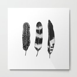 Dark Feather Metal Print