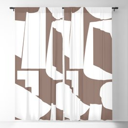 Shape study #17 - Inside Out Collection Blackout Curtain