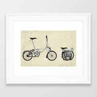 brompton Framed Art Prints featuring Brompton Bicycle by Wyatt Design