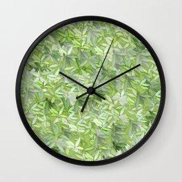 floral flower pattern Wall Clock