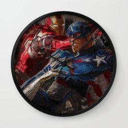 War of superhero Wall Clock