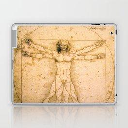 Vitruvian Man by Leonardo da Vinci Laptop & iPad Skin