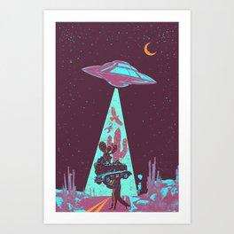 DESERT UFO Art Print