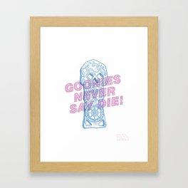 Goonies Never Say Die! Framed Art Print