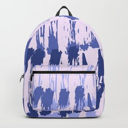 Navy blue lavender watercolor abstract hand painted brushstrokes Backpack