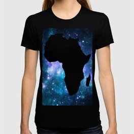 Africa : Teal Blue Violet Galaxy T-shirt