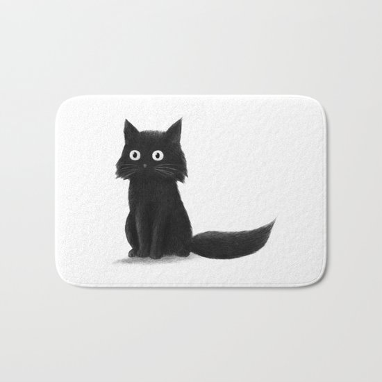 Sitting Cat (mono) Bath Mat
