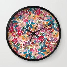 Loose Watercolor Abstract Florals Wall Clock
