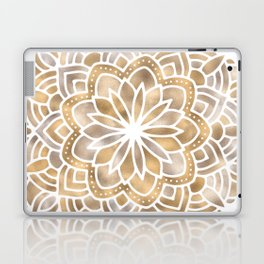 Mandala Multi Metallic in Gold Silver Bronze Copper Laptop & iPad Skin