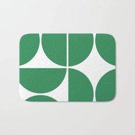 Mid Century Modern Green Square Bath Mat