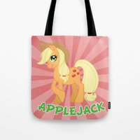 mlp Tote Bags featuring MLP FiM: Applejack by Yiji