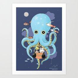 The Fishing Night Art Print