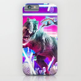 Dinosaur Rave Raving iPhone Case