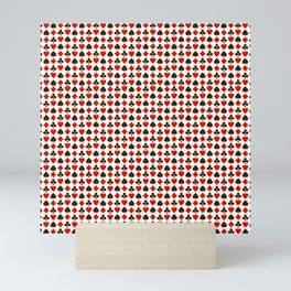 Casino Pattern | Gambling Luck Money Poker Cards Mini Art Print