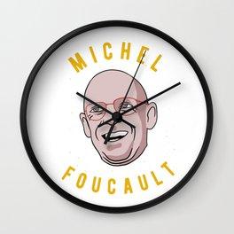 Michel Foucault Philosophy Wall Clock