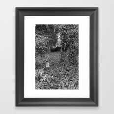 Alice and the queen in grey Framed Art Print