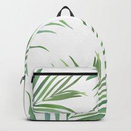 Green Leaf Watercolor Design Backpack