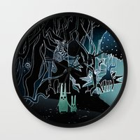 scary Wall Clocks featuring scary place     by Bunny Noir