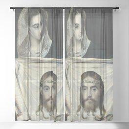"""El Greco (Domenikos Theotokopoulos) """"Saint Veronica"""" Sheer Curtain"""