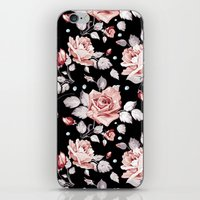 shabby chic iPhone & iPod Skins featuring Shabby Chic Rose by Madisyn Nicole