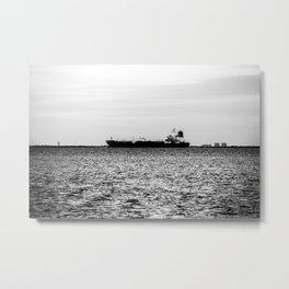 Ship on the Horizon Metal Print