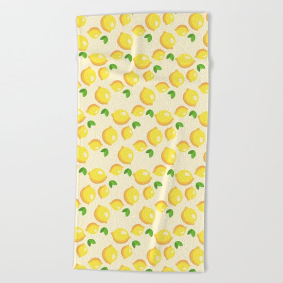 Lemon Pattern Beach Towel