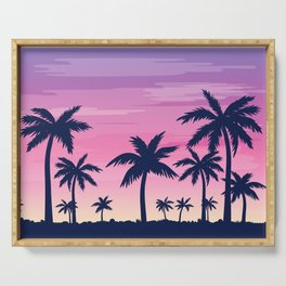 Palms with Purple Sky Serving Tray