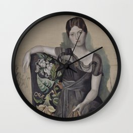 Pablo Picasso - Portrait of Olga in an Armchair Wall Clock