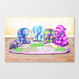 Elephant's Brunch Canvas Print