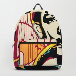 Salvador Dali, Psychedelic Pop Art inspirational quote Backpack