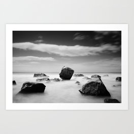 Standing out of the Crowd - A long exposure Seascape Art Print