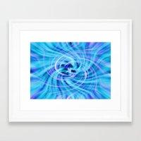 pivot Framed Art Prints featuring Blue twirl by AvHeertum