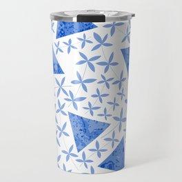 Shapes in Nature : Blue Travel Mug