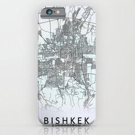 Bishkek, Kyrgyzstan, White, City, Map iPhone Case