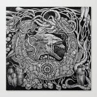 prometheus Canvas Prints featuring Prometheus by Walid Aziz