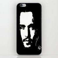 johnny depp iPhone & iPod Skins featuring Johnny Depp by Kunooz