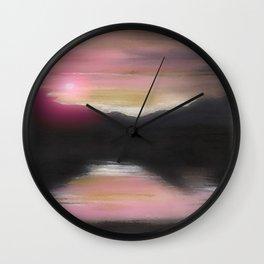 Sunset Mountain Wall Clock