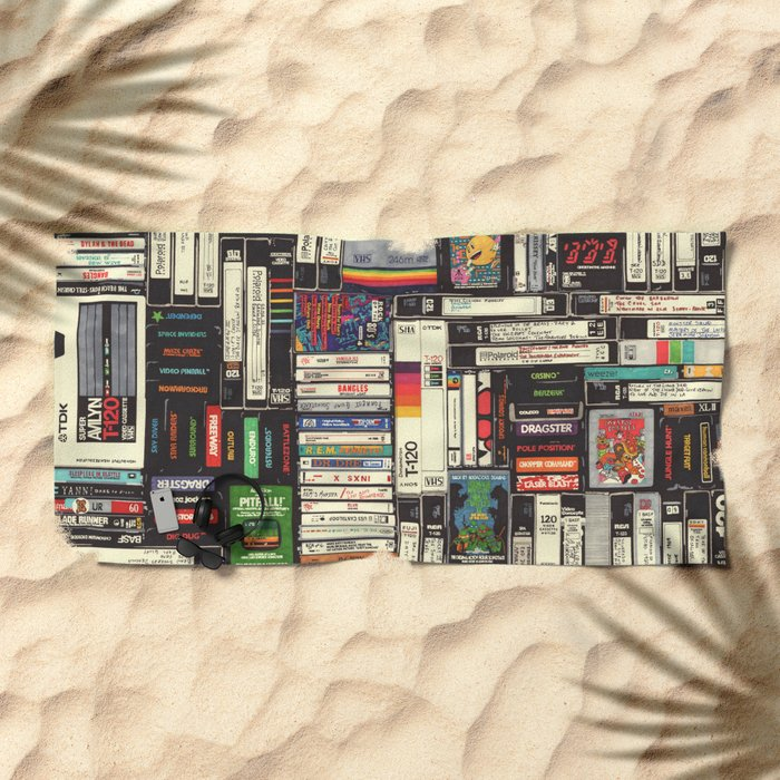 Cassettes, VHS & Games Beach Towel