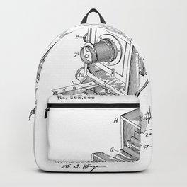 Vintage Camera Patent Backpack
