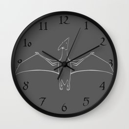 Pterodactyl Outline Wall Clock