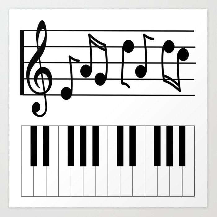 image regarding Piano Keyboard Printable identify Tunes Notes with Piano Keyboard Artwork Print as a result of quotelifeshop
