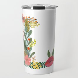 Monogram Letter L Travel Mug