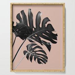 Tropical Monstera Finesse #3 #minimal #decor #art #society6 Serving Tray