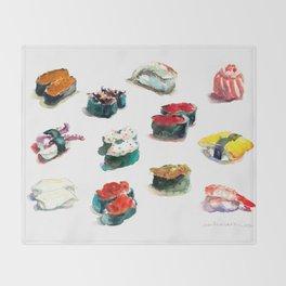 I love Sushi Throw Blanket