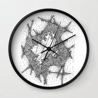 fractal Wall Clocks featuring Fractal by Abstract Al