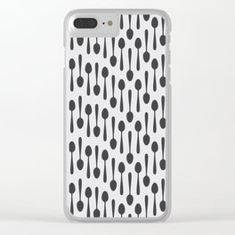 Kitchen cutlery spoons Clear iPhone Case