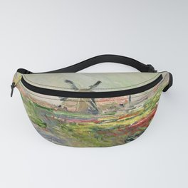 "Claude Monet ""Tulip field in Holland (Champ de tulipes en Hollande)"" Fanny Pack"